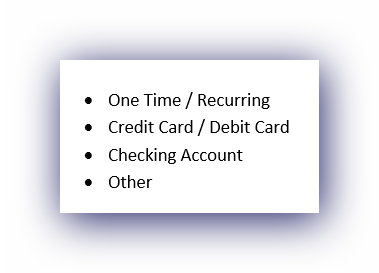 Image of Cash Donation Options List for Oasis Pregnancy Care Centers
