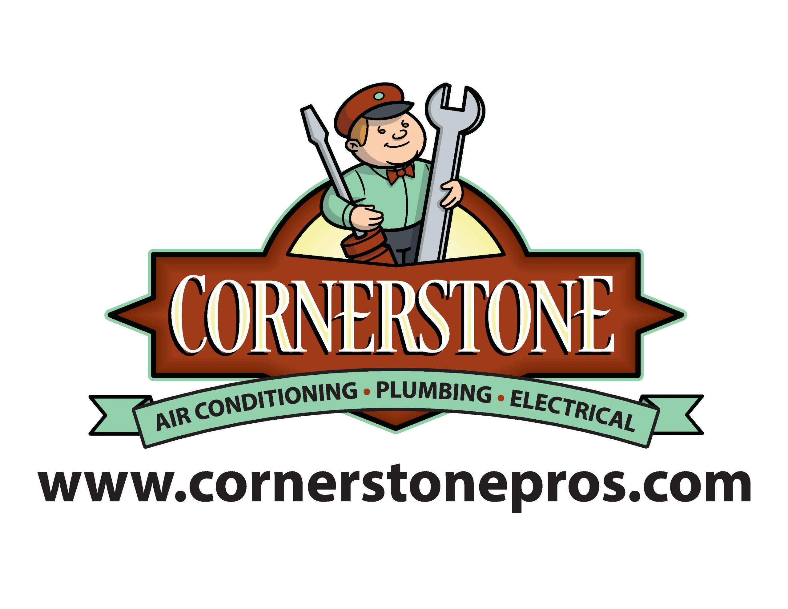 Cornerstone Logo with website-page